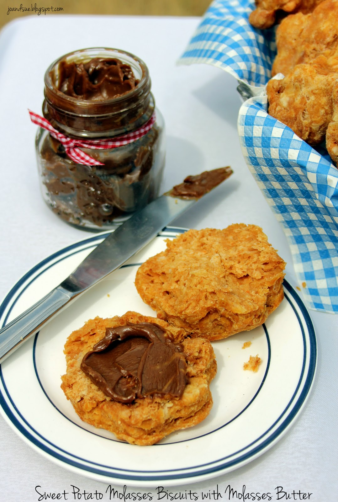 Jo and Sue: Sweet Potato Molasses Biscuits With Molasses Butter