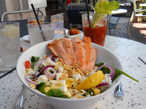 A gorgeous Salmon Salad lunch at Shooter's in Ft. Lauderdale