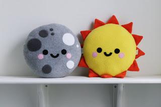 Sun Cushion, Sunshine Pillow, Sky Decor Moon Pretty New