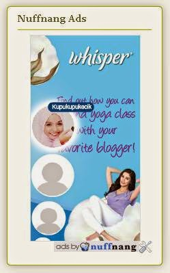 Nuffnang, Whisper, Yoga Class and Yuyu Zulaikha