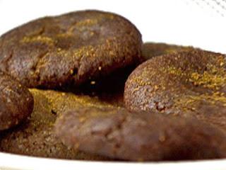 Biscoitos trufados de chocolate