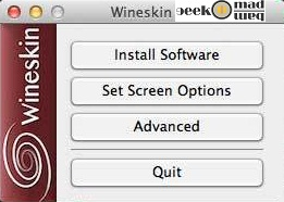 run windows application on mac with winskin winery free tool, run windows software on mac free