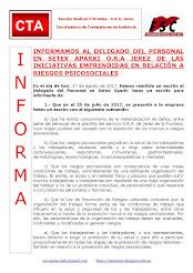 INFORMAMOS AL DELEGADO DEL PERSONAL EN SETEX APARKI O.R.A JEREZ DE LAS INICIATIVAS EMPRENDIDAS EN R
