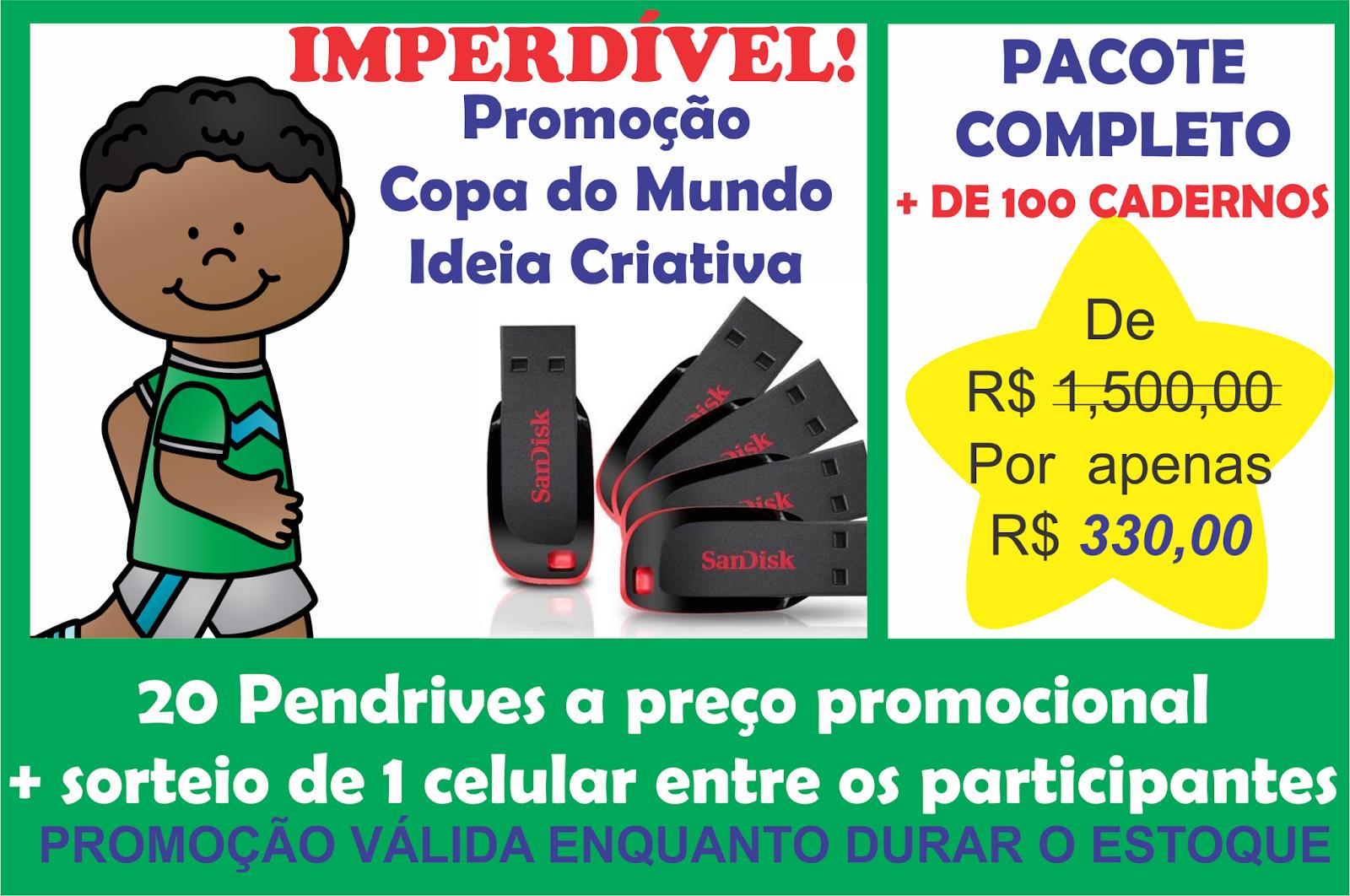 Promoção Copa do Mundo Pacote Completo Ideia Criativa