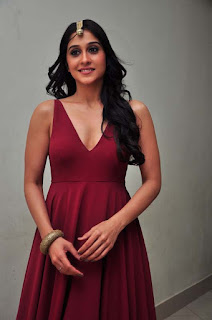 Regina Looks so cute and Beautiful in a deep neck Maroon sleevelss Gown Sizzling Pics