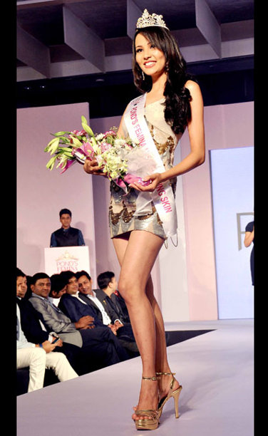 Sagarika Chhetri winner of Pond's Femina Miss Glowing Skin 2013 Title during the Ponds Femina Miss India 2013 beauty pageant held at Yash Raj Studios in Mumbai on March 24, 2013.