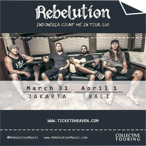 Rebelution Akhir Maret Tour di Jakarta Bali
