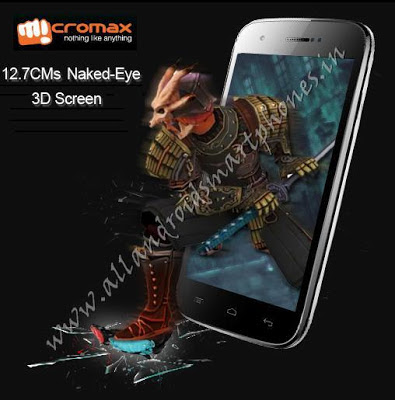 Micromax A115 Canvas 3D 5 inch Android Smartphone Images & Photos