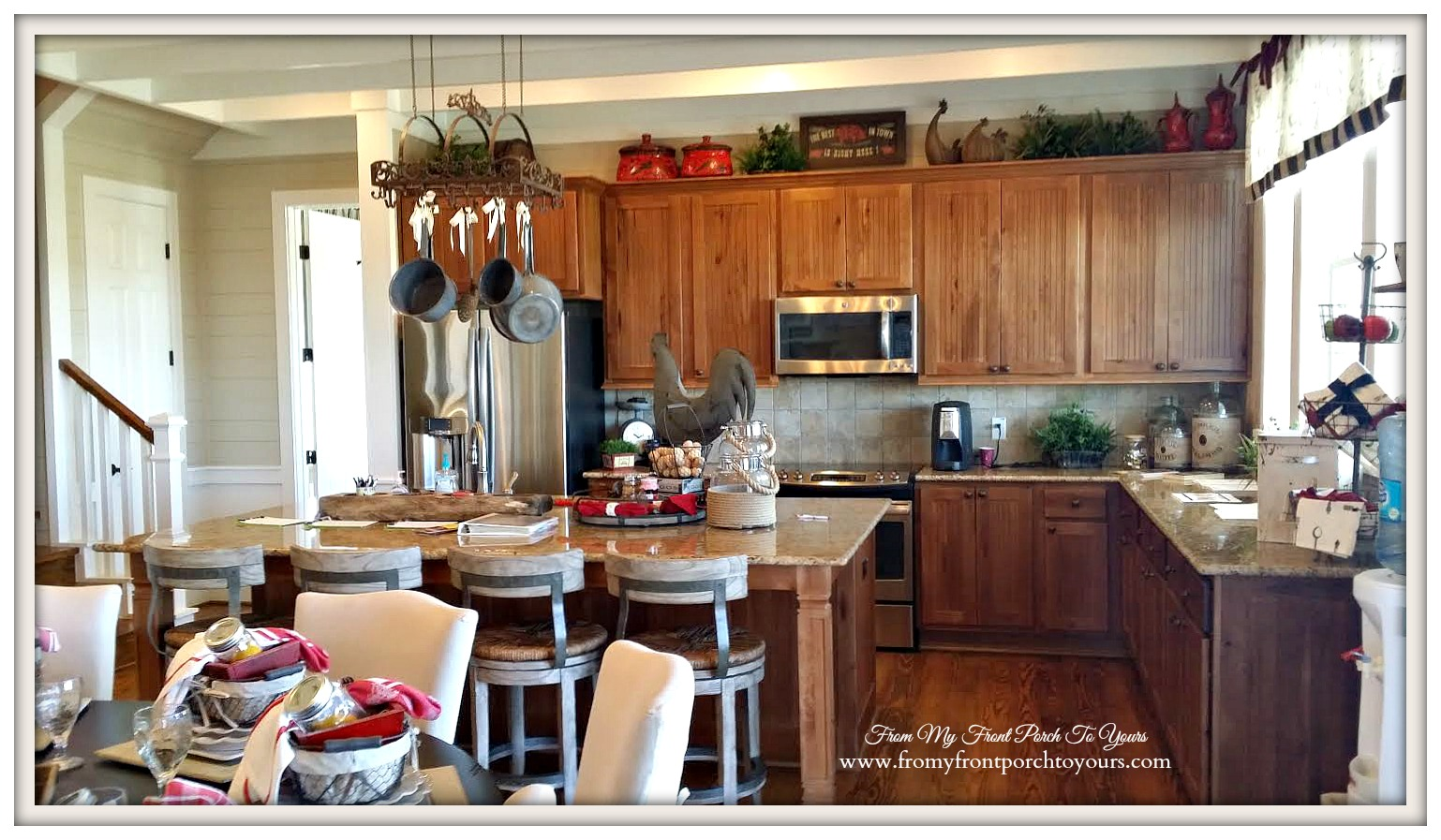Texas Farmhouse Kitchen-RoundTop Texas-Trendmaker Homes-From My Front Porch To Yours