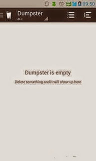 ... Dumpster dan file-file yangtadi telah dihapus akan tersimpan di sana