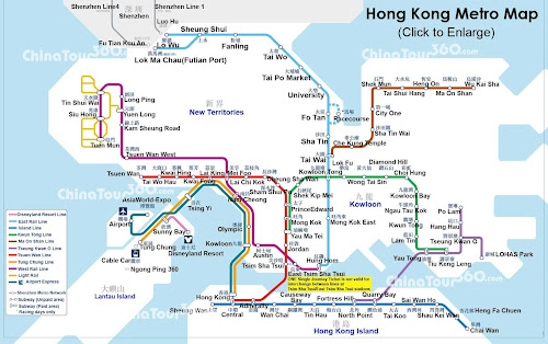 Mapa do metrô de Hong Kong