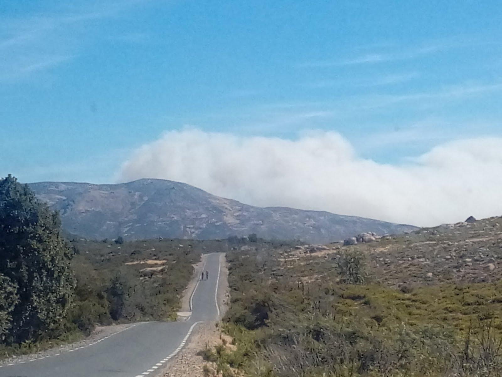 Incendios en el valle del Jerte.