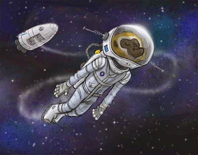 Danny Moore Illustration of a Space Monkey