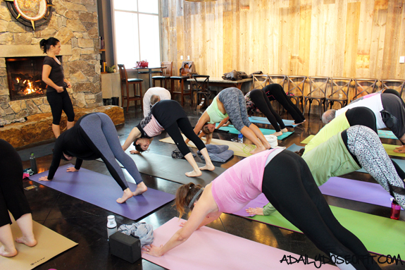Yoga at Dablon Vineyards in Southwest Michigan