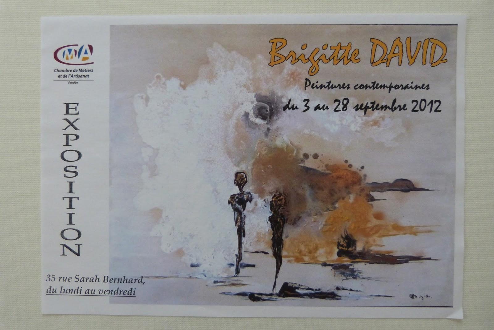 Brigitte david peinture contemporaine - Chambre des metiers la roche sur yon ...