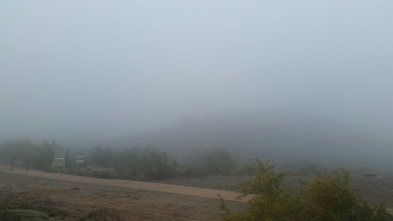 fog, Phoenix, Dreamy Draw Recreation Area