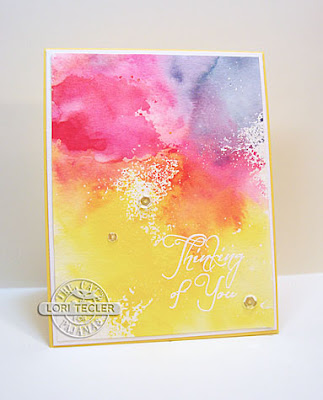 Thinking of You card-designed by Lori Tecler/Inking Aloud-stamps from The Cat's Pajamas