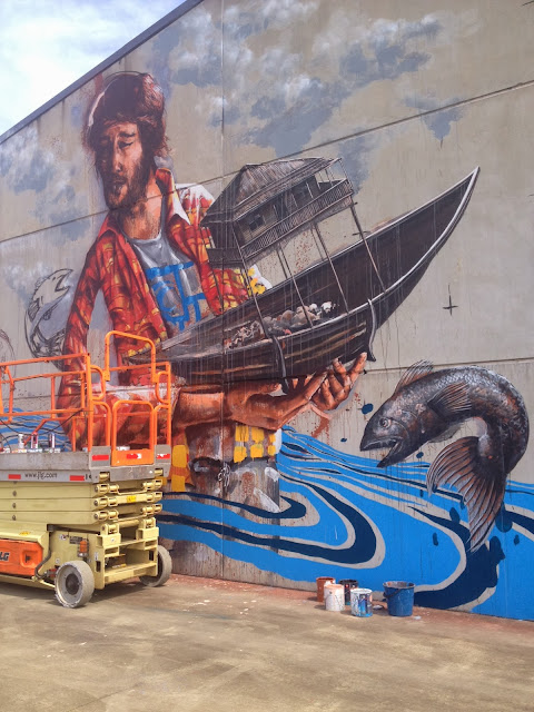 Street Art By Australian Street Artist Fintan Magee On The Streets Of Coffs Harbour, Australia. 3