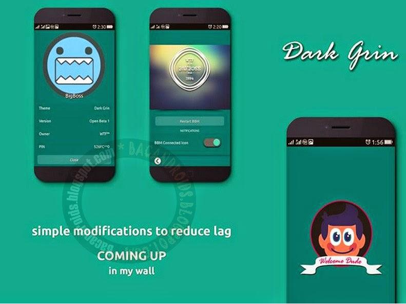 BBM Mod Dark Grin Apk Versi Terbaru nda Wete'ef