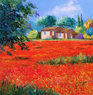 Pintura Paisaje Colorido