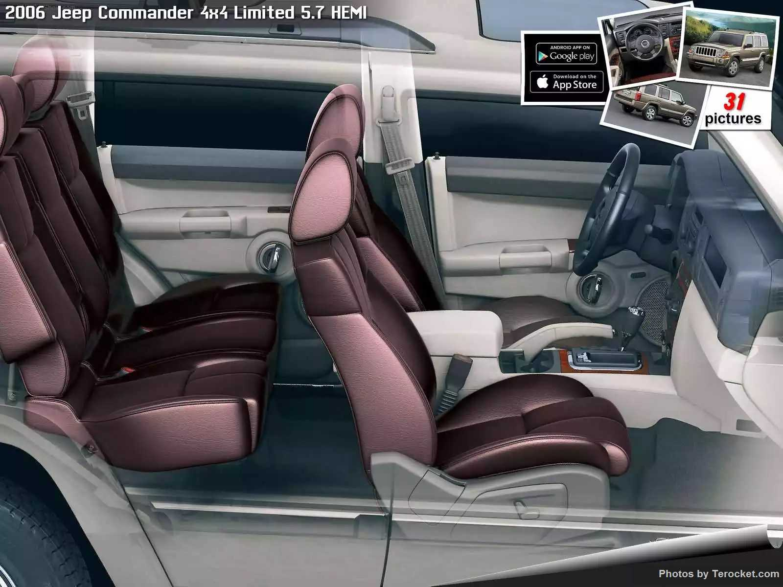 Hình ảnh xe ô tô Jeep Commander 4x4 Limited 5.7 HEMI 2006 & nội ngoại thất