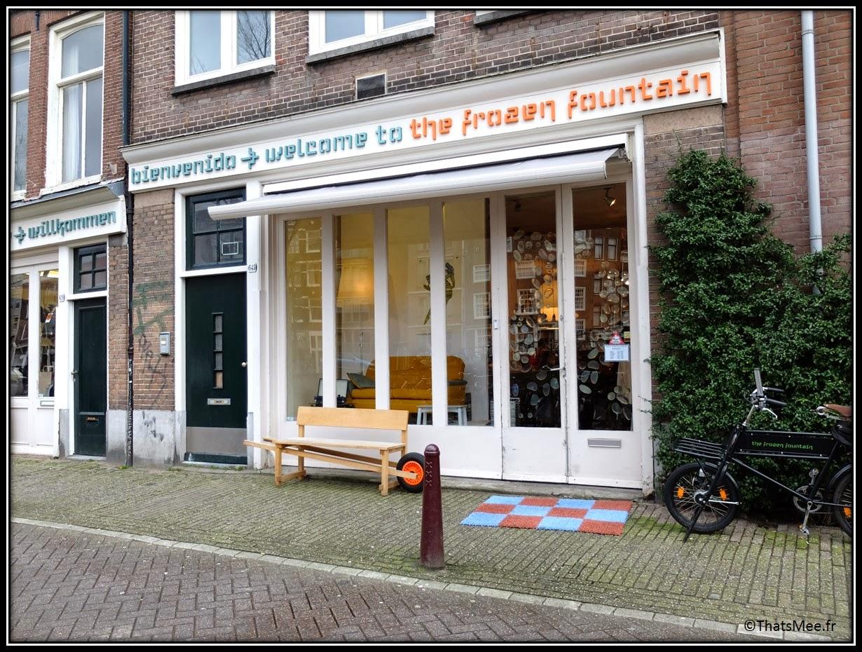 Frozen fountain deco concept-store design Amsterdam devanture