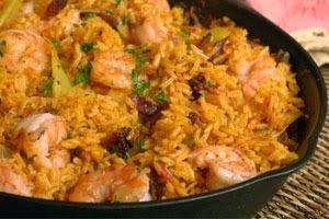 طريقة عمل الأرز الأحمر بالجمبري