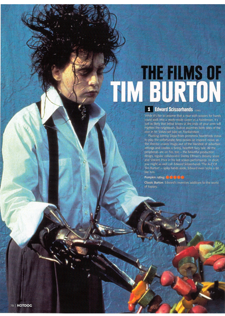 tim burton analytical essay Edward scissorhands essay sample edward scissorhands (1990) is a gothic, fantasy genre film directed by tim burton the film is heavily influenced by mary shelley's, frankenstein a science fiction novel about a gruesome 'monster,' who was cast out of society and isolated from others, but also the frankenstein myth in general.