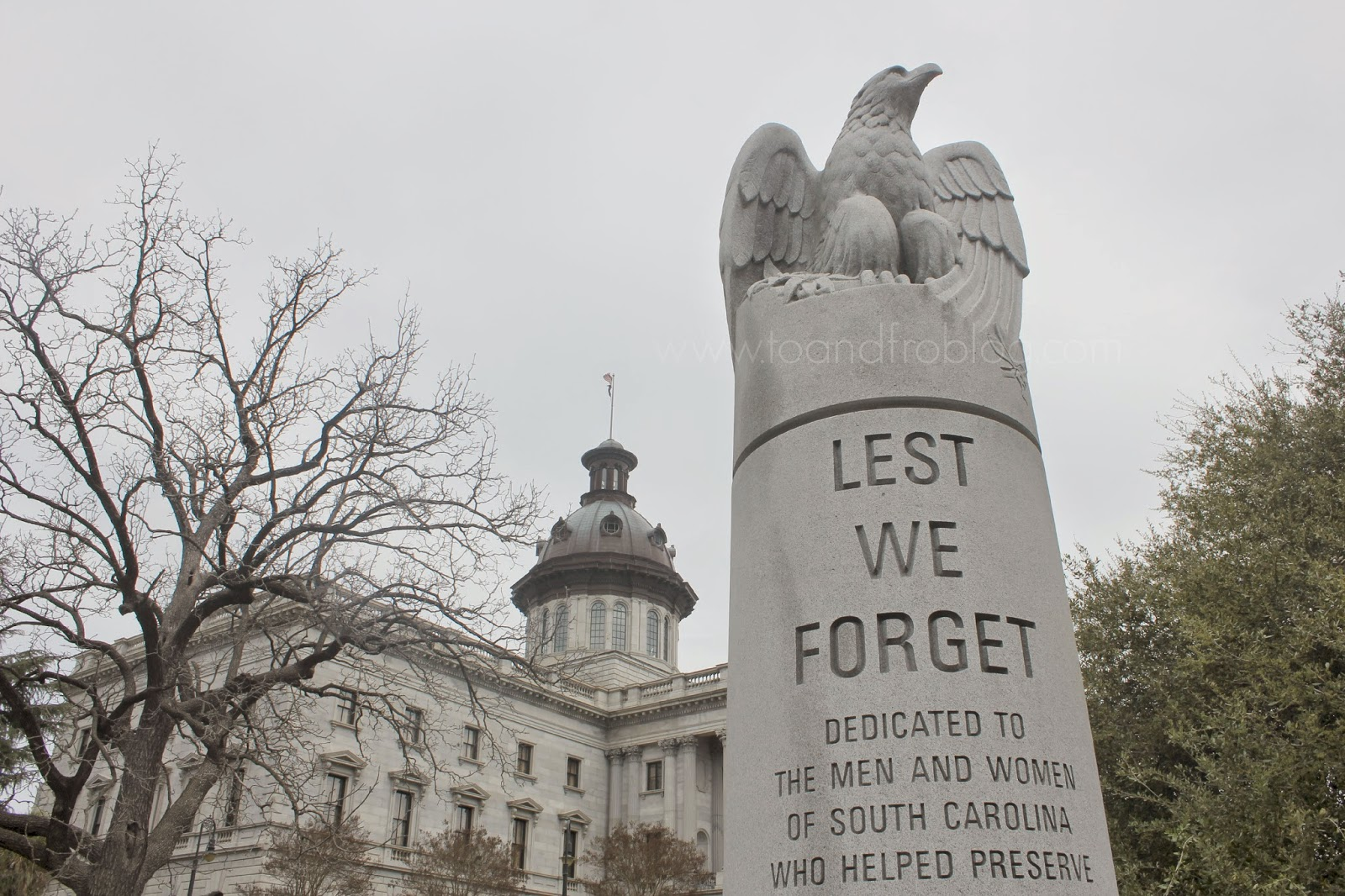 columbia, south carolina state house monument
