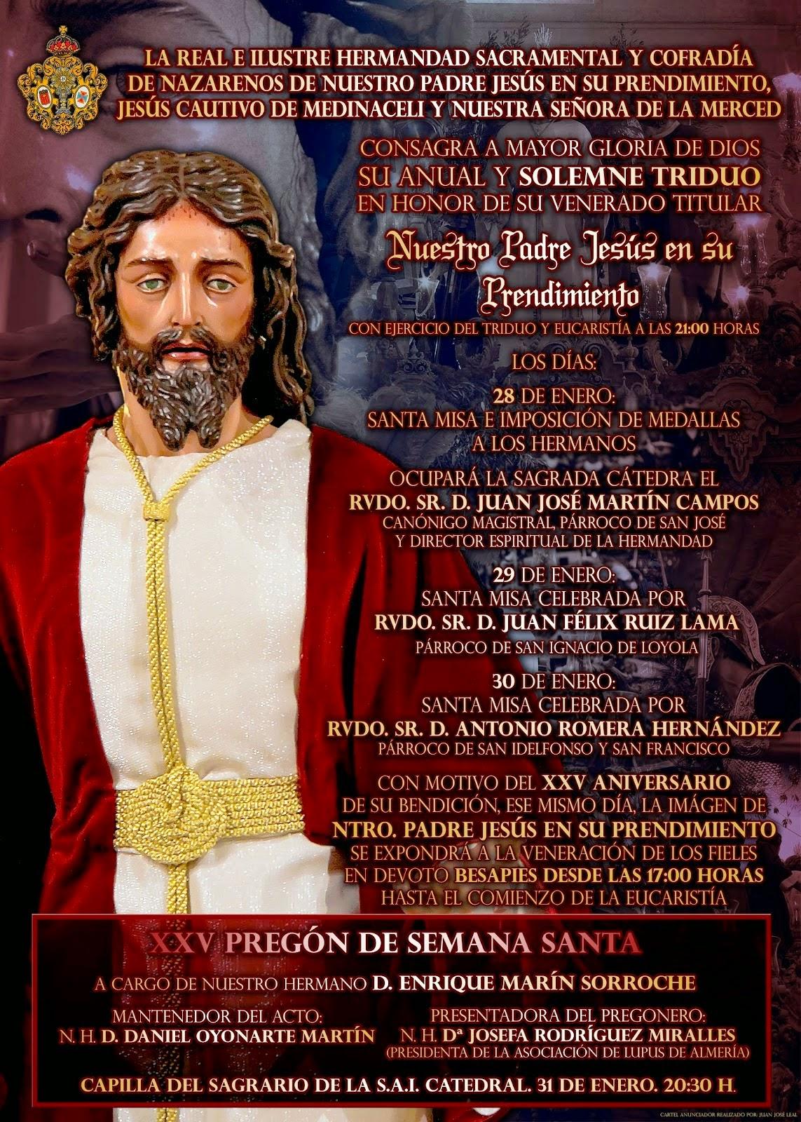 Triduo y Pregón Prendimiento 2015