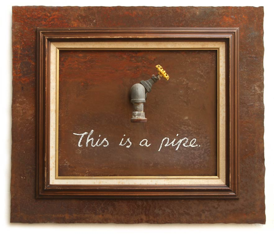 Banksy image: This IS A Pipe (This is not a Magritte)