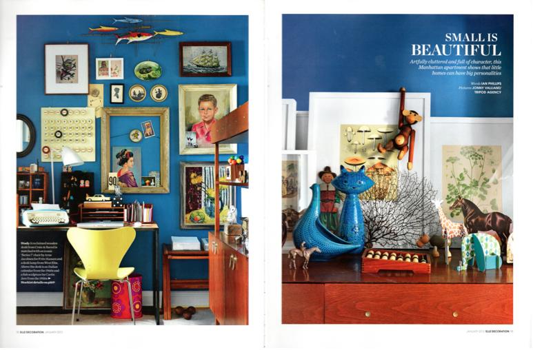 ELLE Decoration interior design inspiration blue walls