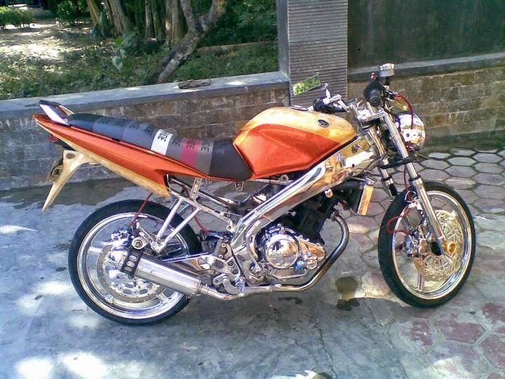 motor vixion full chrome