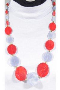 Kalung Lollypop - Merah Ungu (Toko Jilbab dan Busana Muslimah Terbaru)