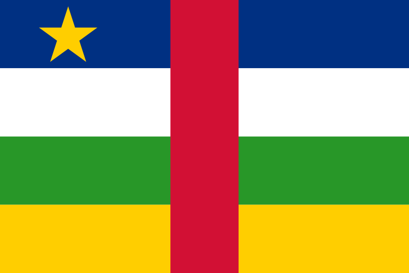 National Flag of Central African Republic