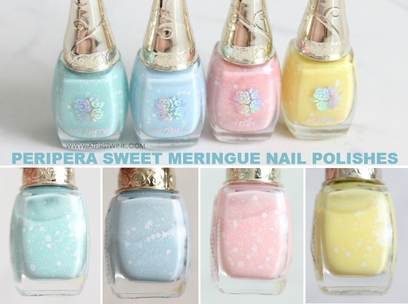 Peripera Sweet Meringue nail polishes