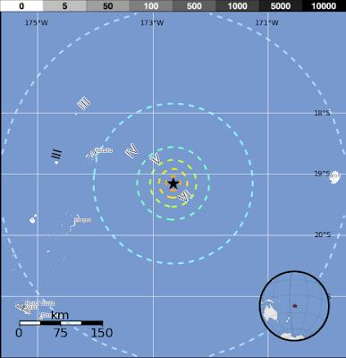Epicentro sismo Tonga, 02 de Noviembre 2013