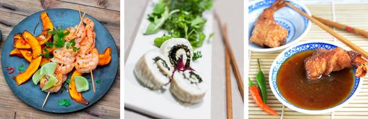 Garnelen, Fisch, Meeresfrüchte, Blog