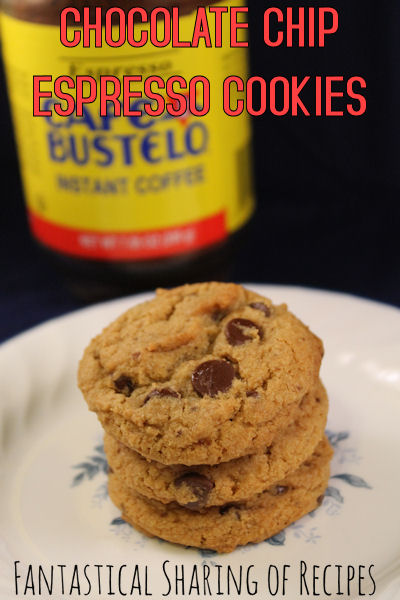 Espresso Chocolate Chip Cookies | A little espresso spiked chocolate chip cookie will brighten your day! | www.fantasticalsharing.com
