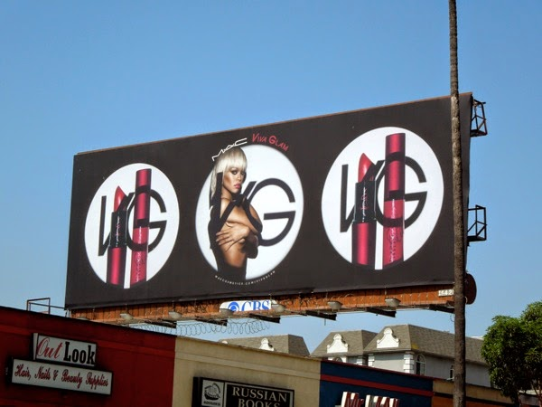 Rihanna Mac Viva Glam makeup billboard