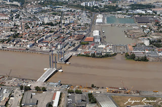 photo aerienne du pont Bacalan Bastide