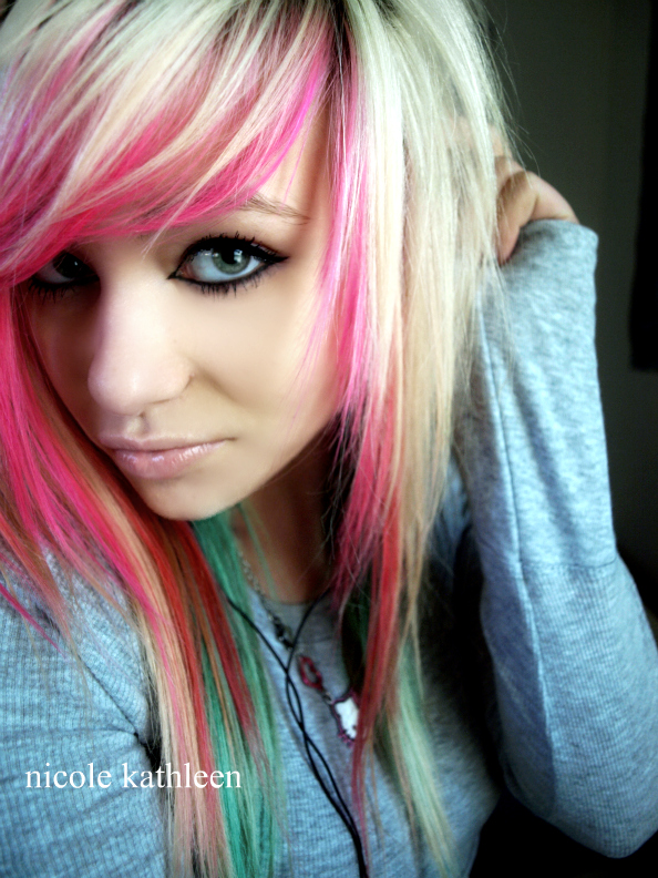 Blonde Scene Emo Hairstyle Celebrities Hairstyle Gallery