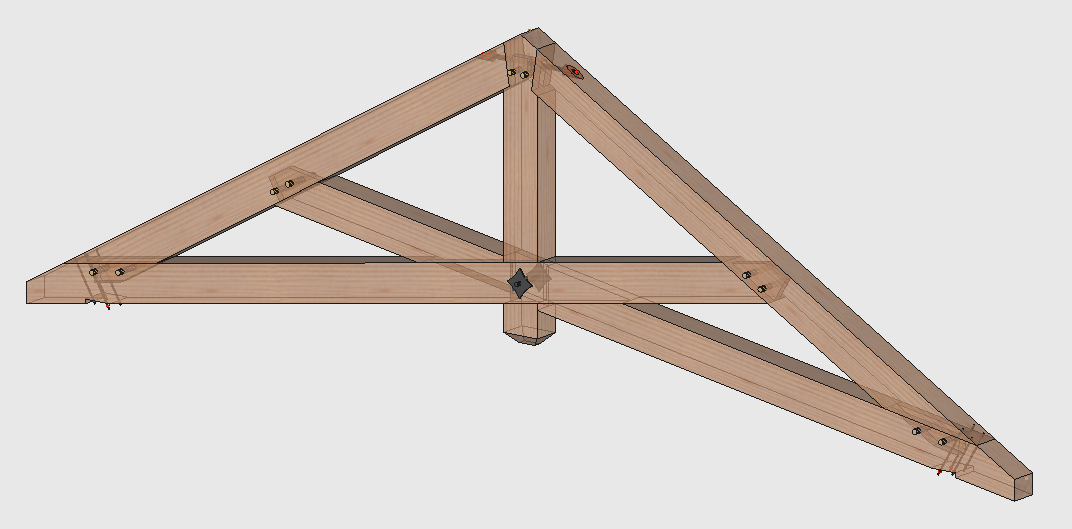 Timber frame engineer 2014 for Scissor truss design