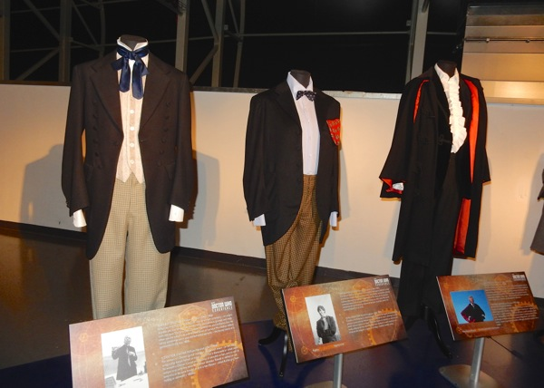 First second Third Doctor Who costumes