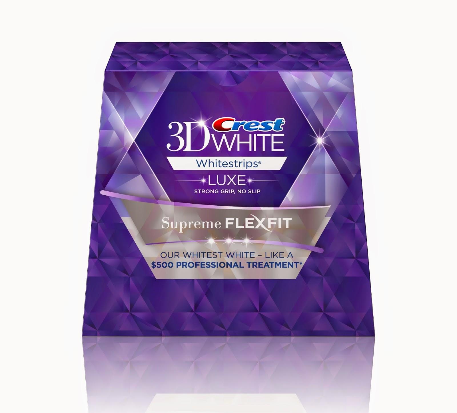 Crest 3d white whitestrips luxe supreme flexfit