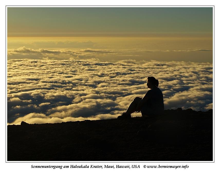 Haleakala Sonnenuntergang
