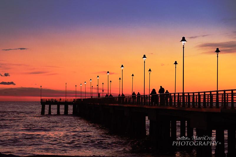 Marina di Massa molto al tramonto