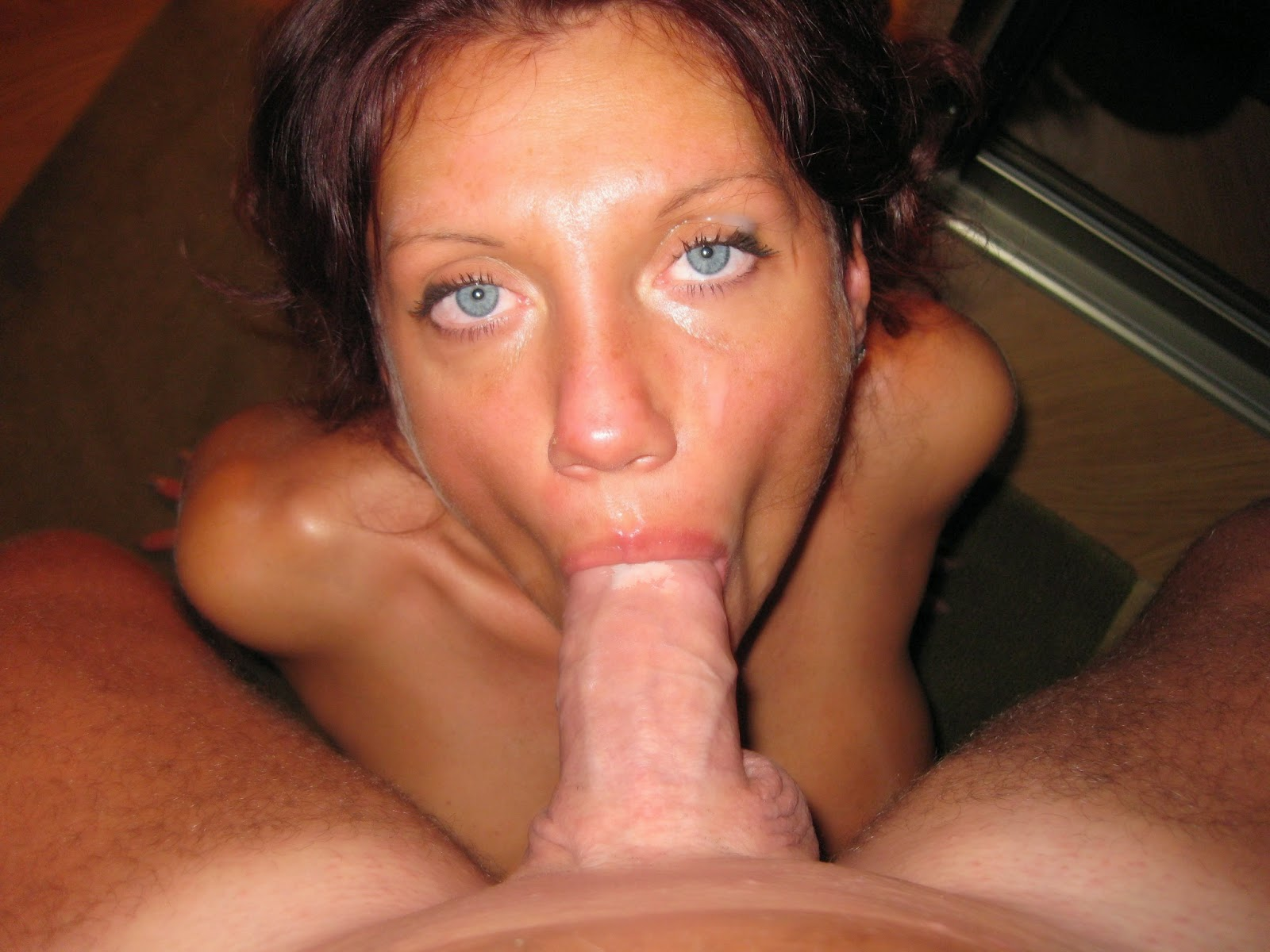 Amateur brunette milf facial and love 7