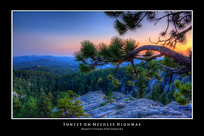 Sunset on Needles Highway Antzl Project Review by Dakota Visions Photography LLC