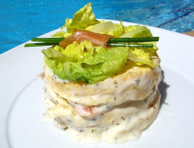 Tarta de salmón y queso